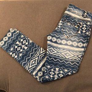 Hot Kiss Skinny Lily Aztec print jeans
